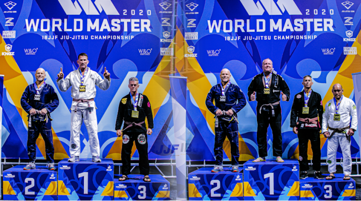 IBJJF Master 5 Brown Belt podiums